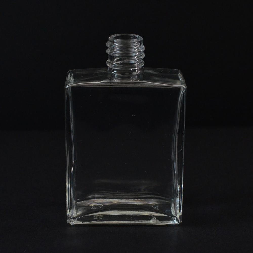2 oz 18/415 Rectangular Clear Glass Bottle