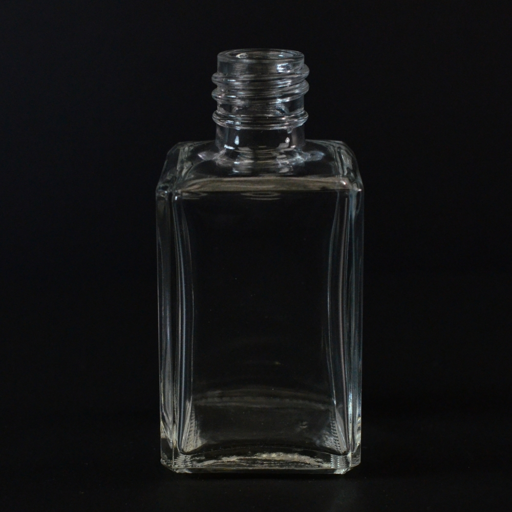 2 oz 20/415 Florence Square Clear Glass Bottle