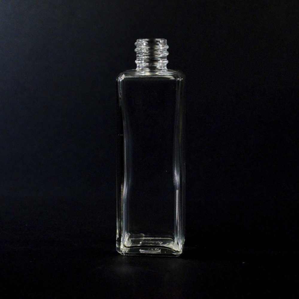 2 oz 18/415 Nancy Square Clear Glass Bottle