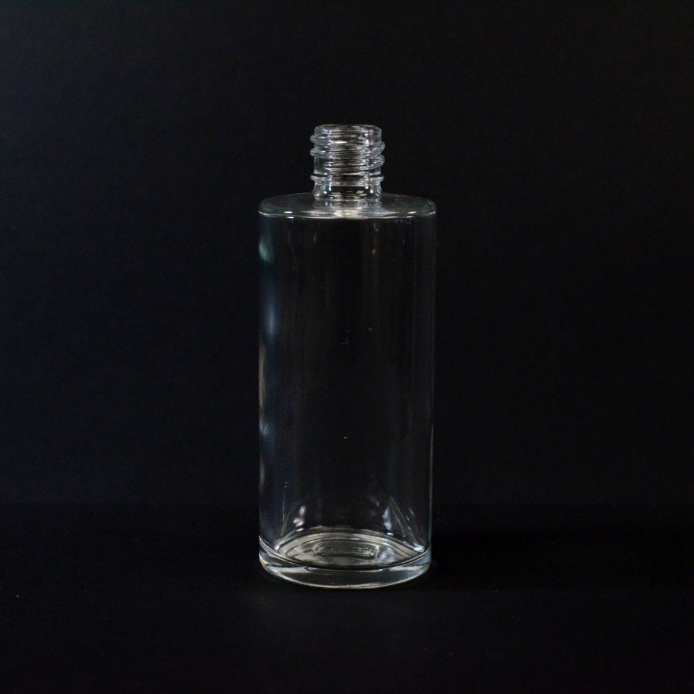 2.5 oz 18/415 Cylinder Clear Glass Bottle