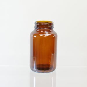 Glass Bottle 200cc Pharmaceutical Packer Amber 45-400_3090