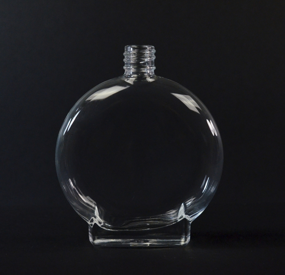 3.3 oz 18/415 Vision Oval Clear Glass Bottle