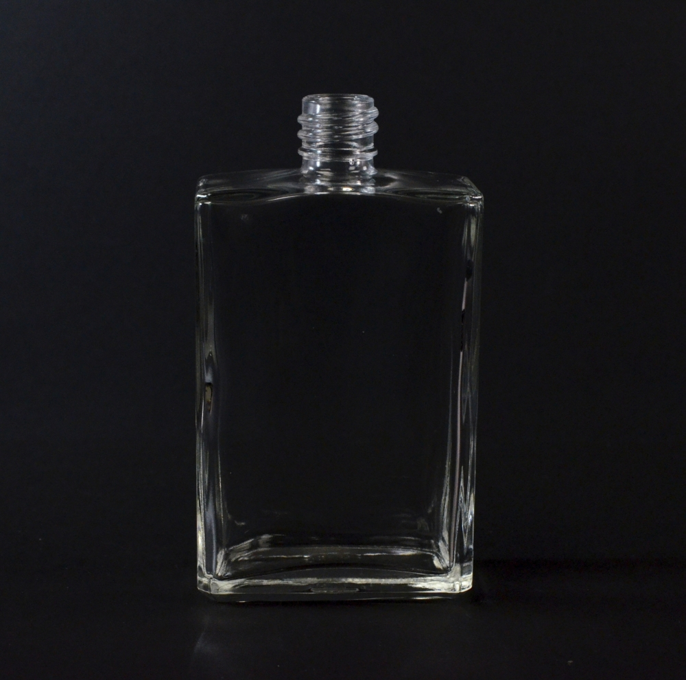 3.3 oz 18/415 Rectangular Clear Glass Bottle