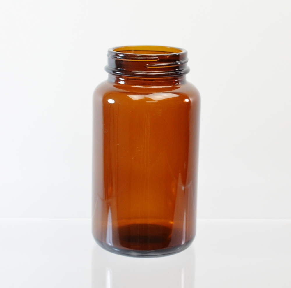 300CC 53/400 Amber Glass Nutritional Supplement Packer