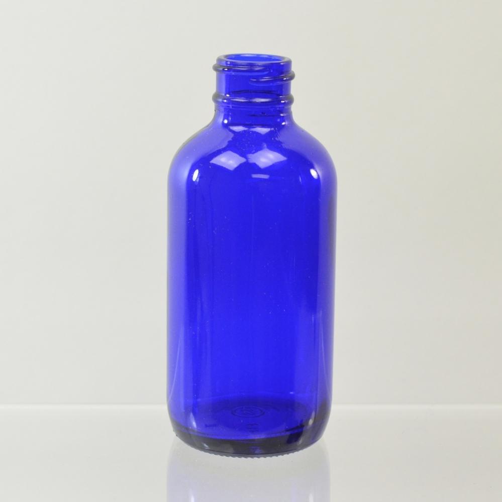 4 oz Boston Round 24/400 Cobalt Glass Bottle