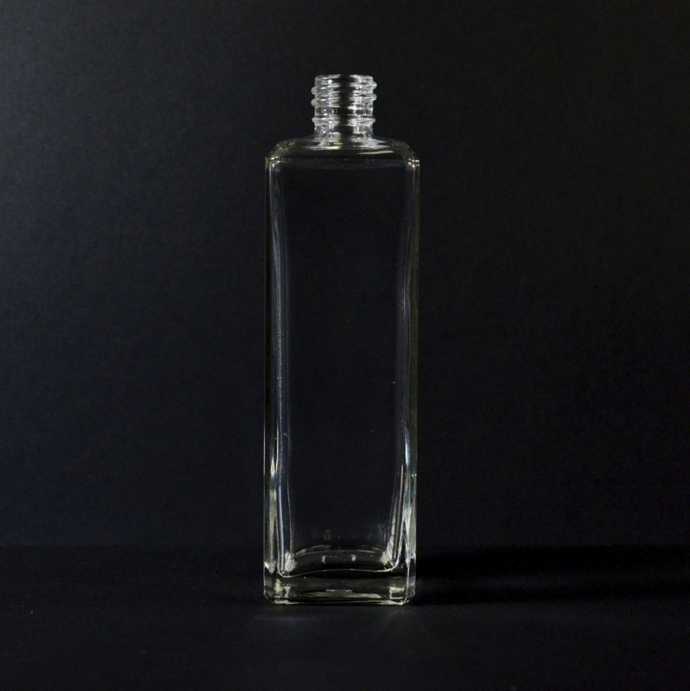 4 oz 18/415 Nancy Square Clear Glass Bottle