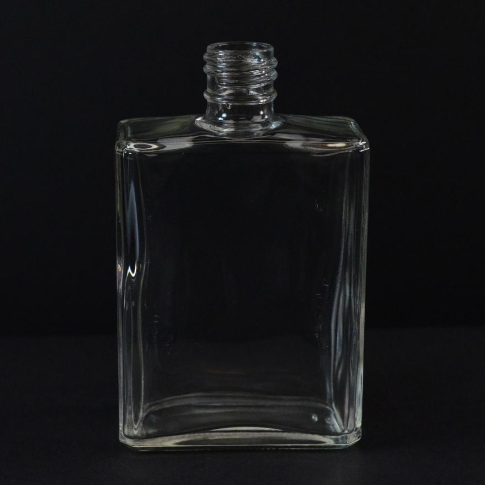 4.5 oz 20/415 Rectangular Clear Glass Bottle