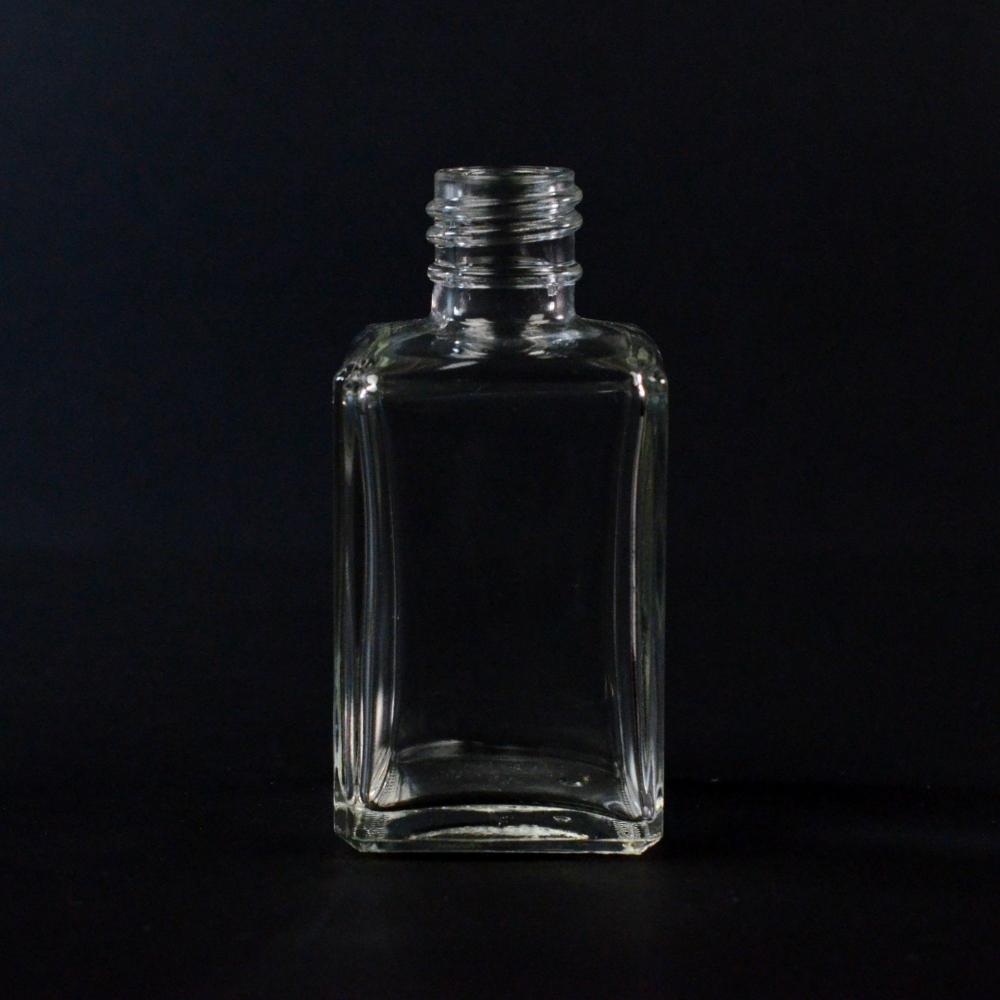 50 ml 20/415 Rectangular Clear Glass Bottle