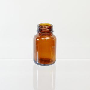 Glass Bottle 60cc Pharmaceutical Packer Amber 33-400_3085