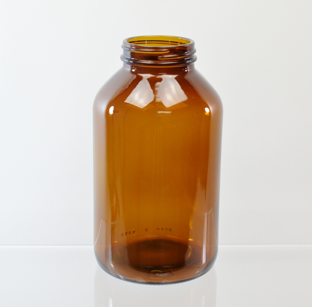 750CC 53/400 Amber Glass Nutritional Supplement Packer