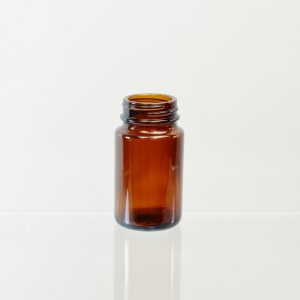 Glass Bottle 75cc Pharmaceutical Packer Amber 38-400_3086