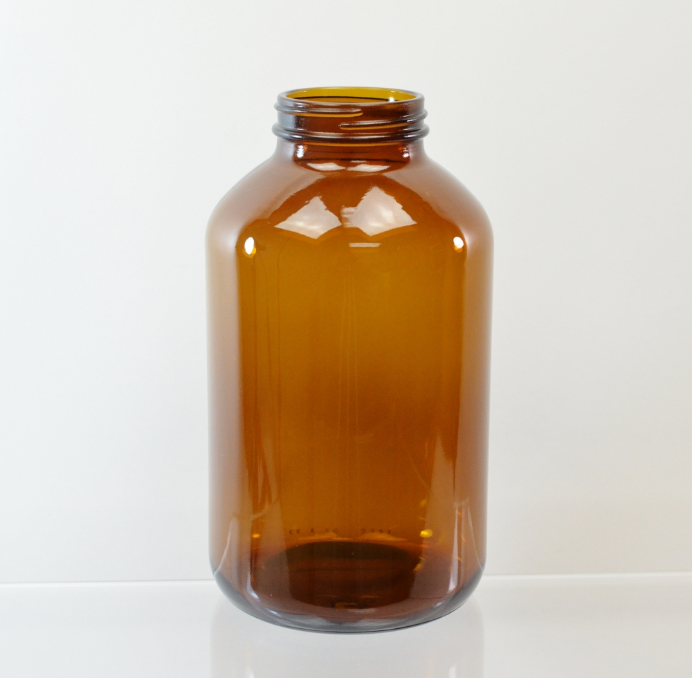 950CC 53/400 Amber Glass Nutritional Supplement Packer