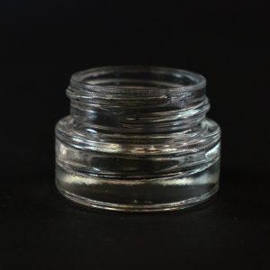 Glass Jar 0.25 oz. Heavy Wall Straight Base Clear 33-400_1106