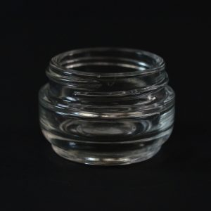 Glass Jar 15ml Heavy Wall Straight Base Venus Clear 40-400_1119
