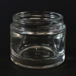 Glass Jar 2.3 oz. Heavy Wall Straight Base Clear 58-400_1109