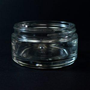 Glass Jar 200ml Round Base Volga Clear 89-400_1105