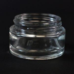 Glass Jar 30ml Straight Base Minerva Clear 48-400_1122