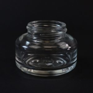 Glass Jar 40ml Heavy Wall Round Base Tango Clear 40-400_1095