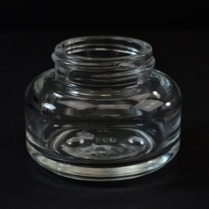 Glass Jar 50ml Heavy Wall Round Base Tango Clear 40-400_1096