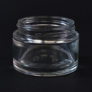 Glass Jar 50ml Straight Base Minerva Clear 48-400_1126