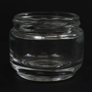 Glass Jar 65ml Regular Wall Round Base Elegante Clear 53-400_1101