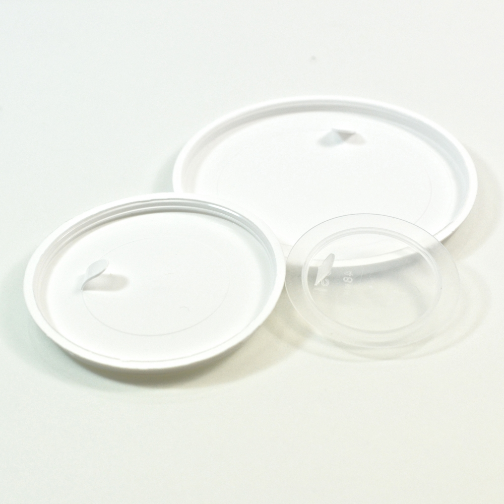 53mm white LDPE Sealing Disc with tab