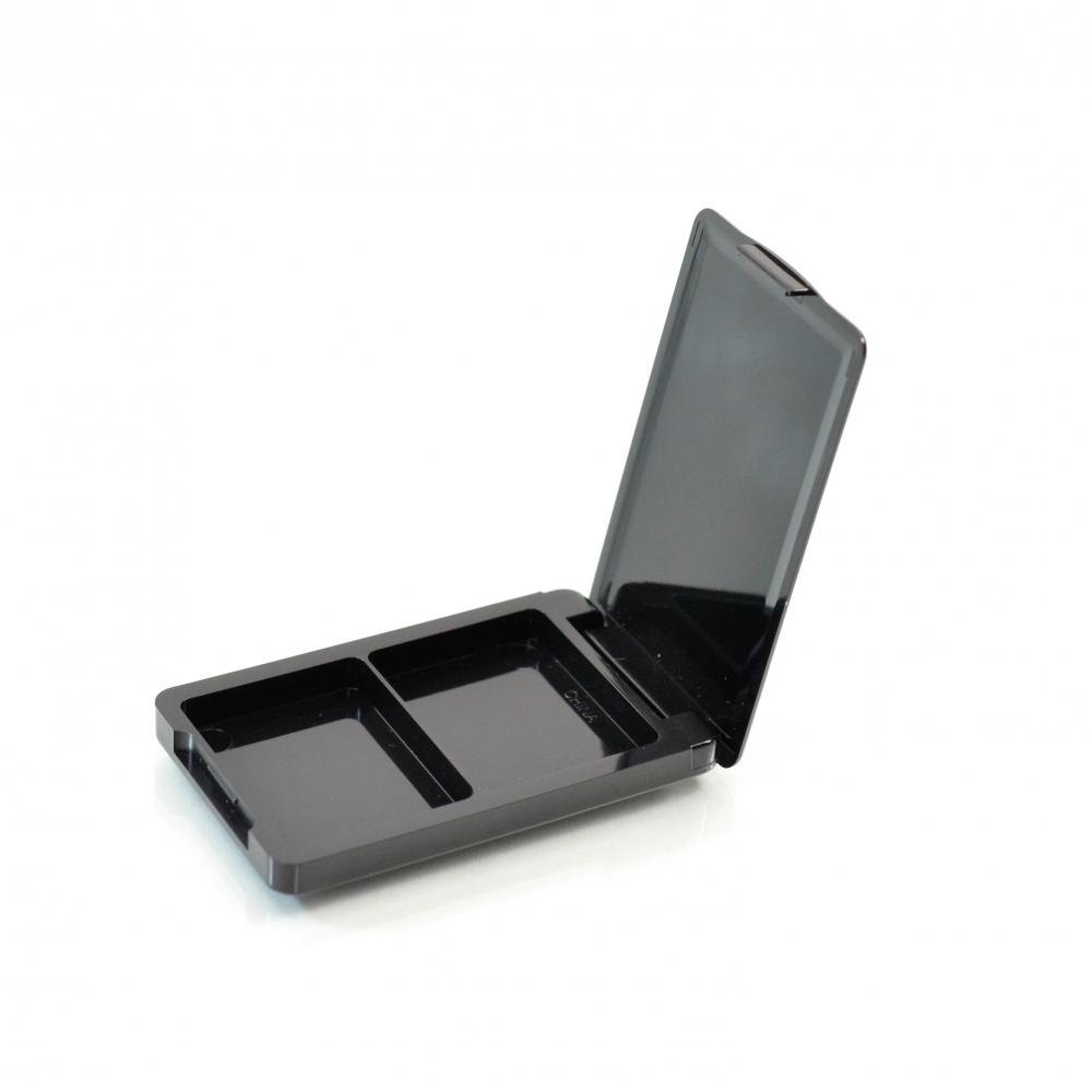 Compact Mahjong ABS Black Pinned-Hinge 2.330″ x 1.400″ x 0.318″