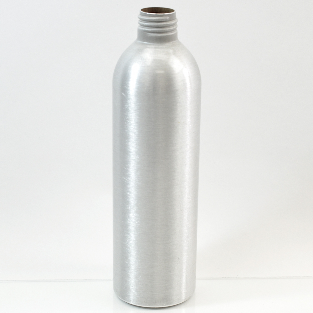 10 oz Brushe Silver 24/410 Aluminum, 53×180 Bottle