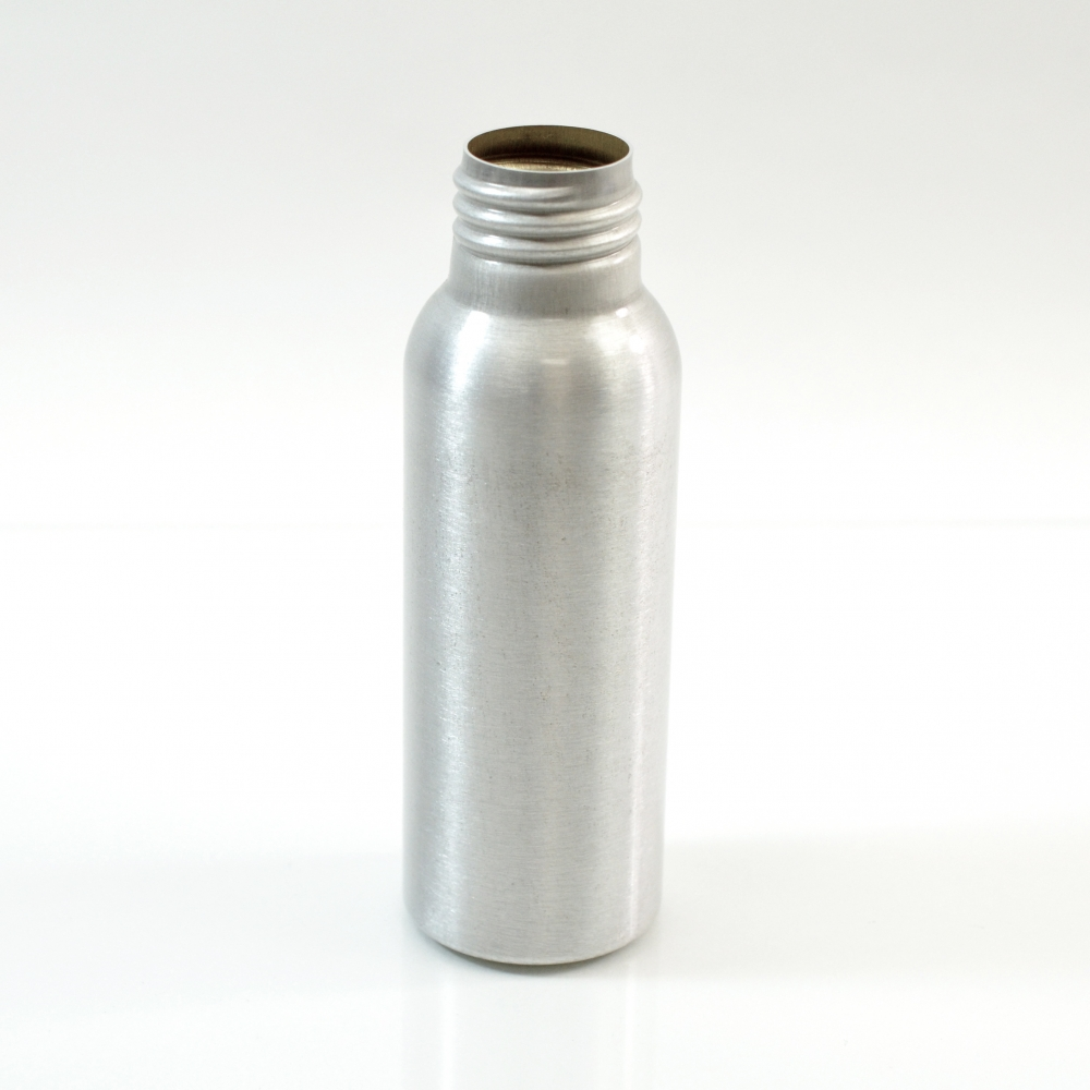 2 oz Brushed Silver 24/410 Aluminum, 35×105 Bottle