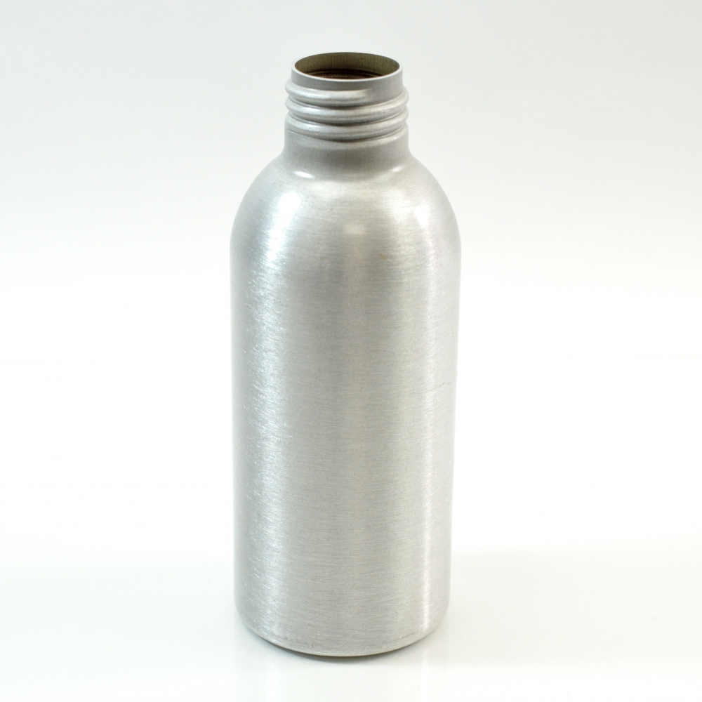 4 oz Brushed Silver 24/410 Aluminum, 45×115 Bottle