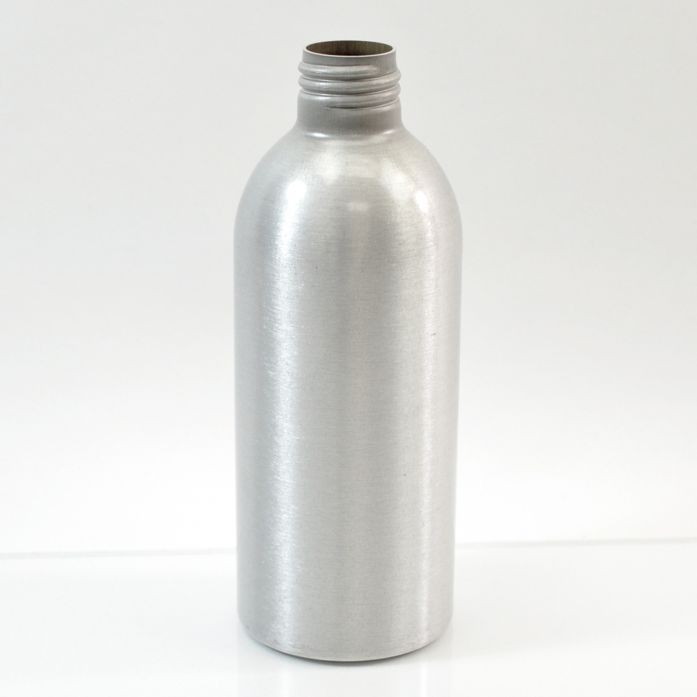 6 oz Brushed Silver 24/410 Aluminum, 53×140 Bottle