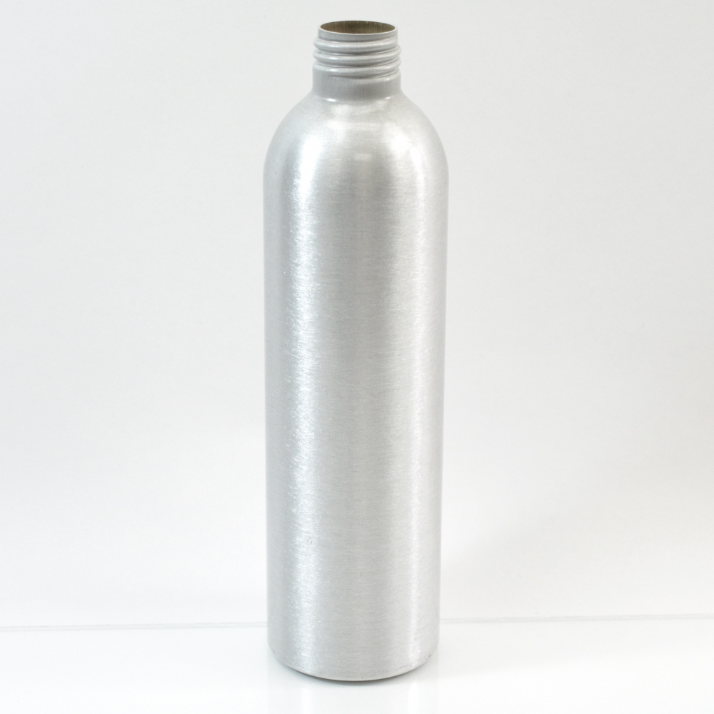 8 oz Brushed Silver 24/410 Aluminum, 50×180 Bottle