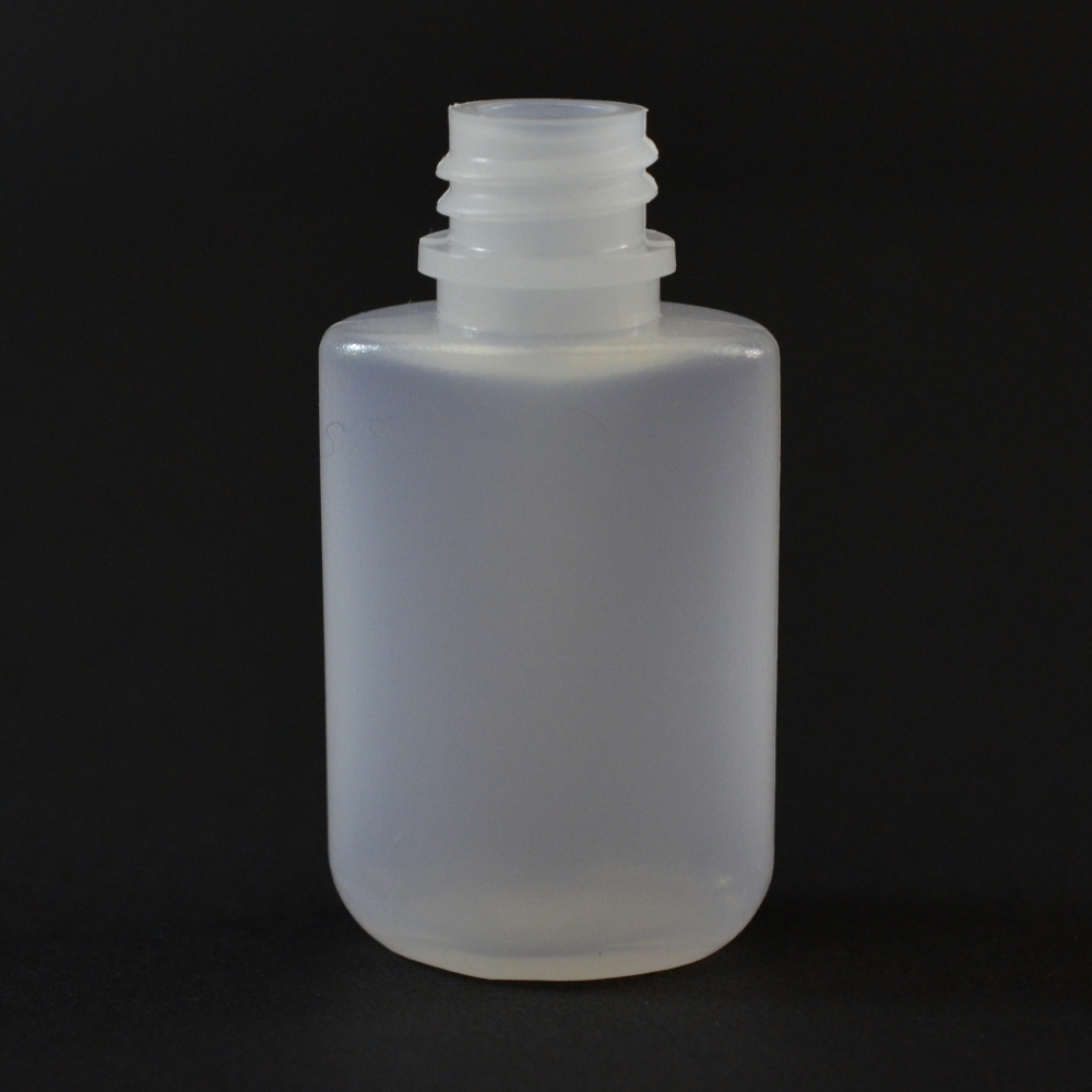 0.25 oz 13/415 W/R Drug Oval Natural HDPE Bottle