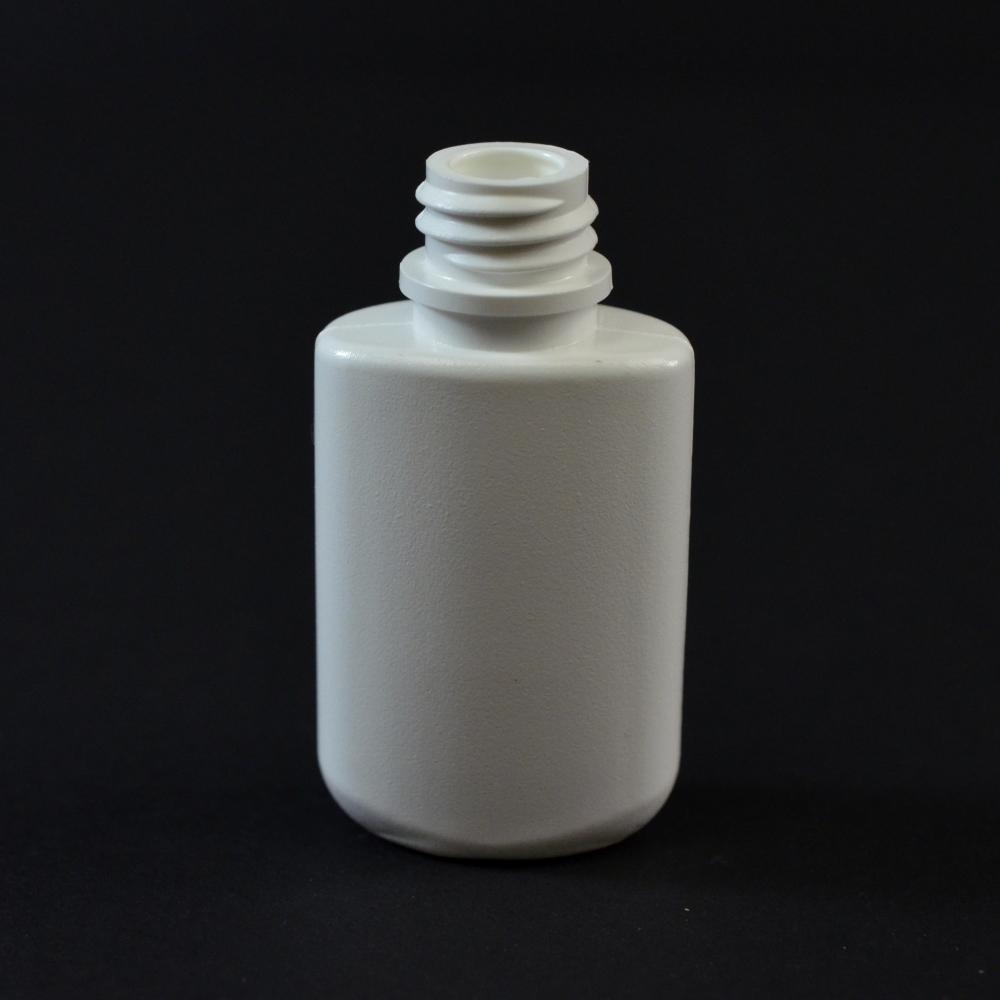 0.25 oz 13/415 W/R Drug Oval White HDPE Bottle
