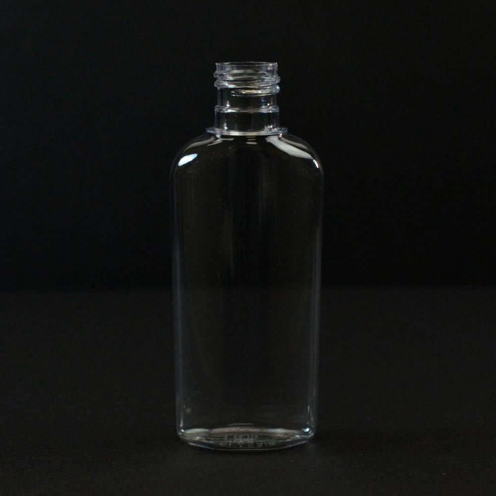 1 oz 15/415 Classic Oval Clear PET Bottle