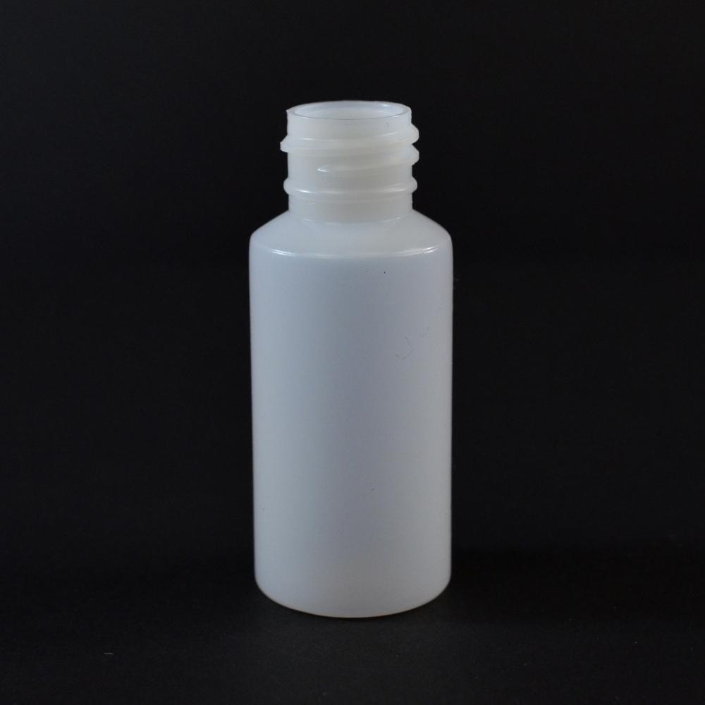 1 oz 20/410 Cylinder Round Natural HDPE Bottle