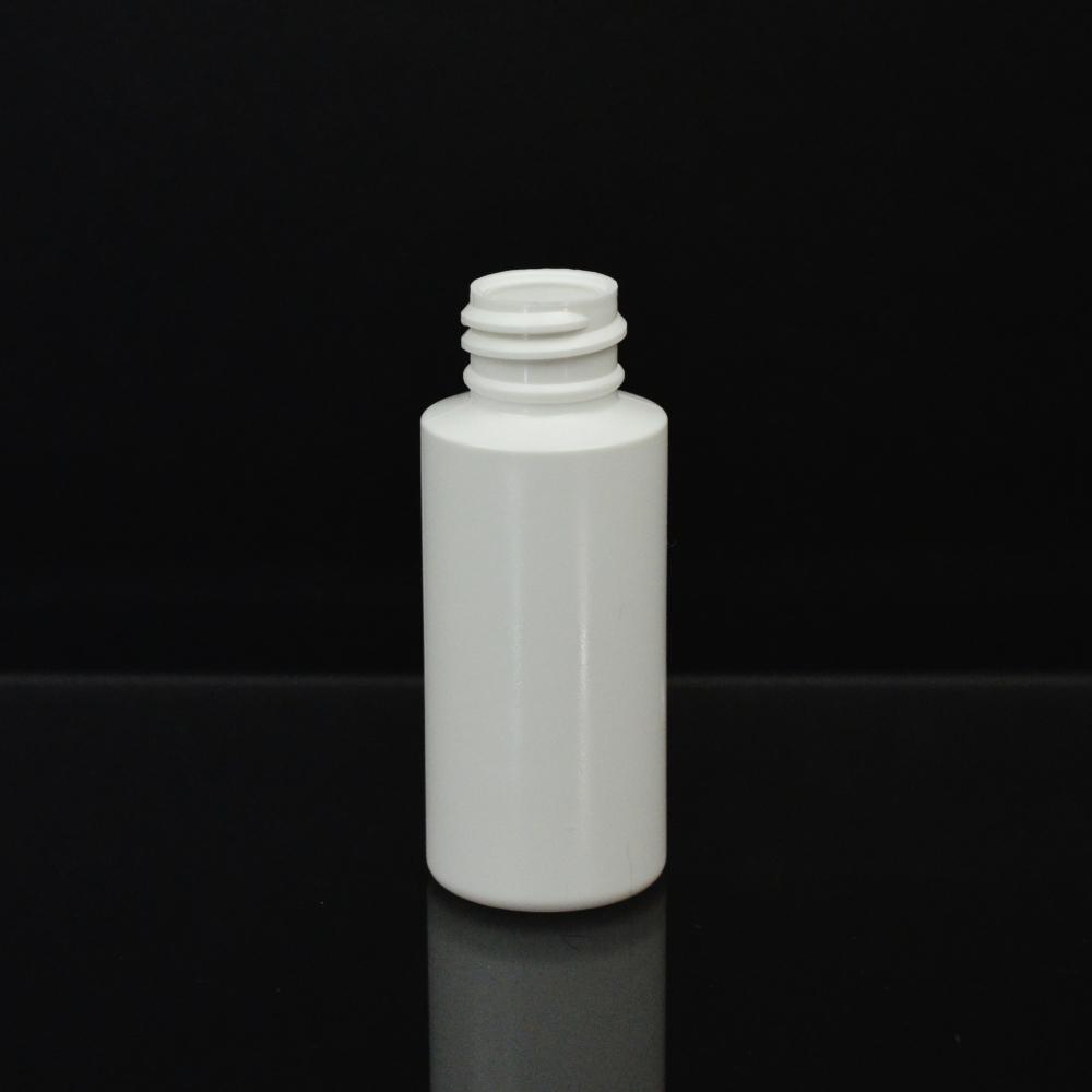 1 oz 20/410 Cylinder Round White LDPE Bottle