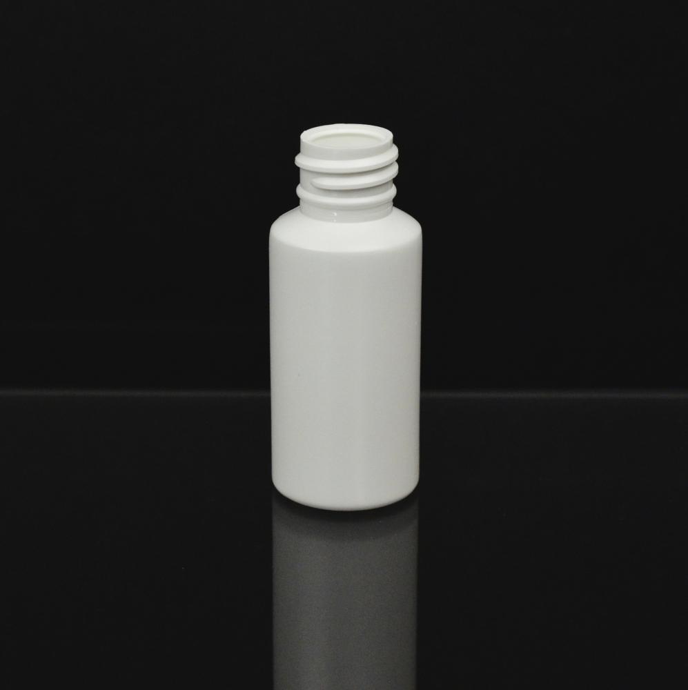 1 oz 20/410 Short Cylinder Round White HDPE Bottle