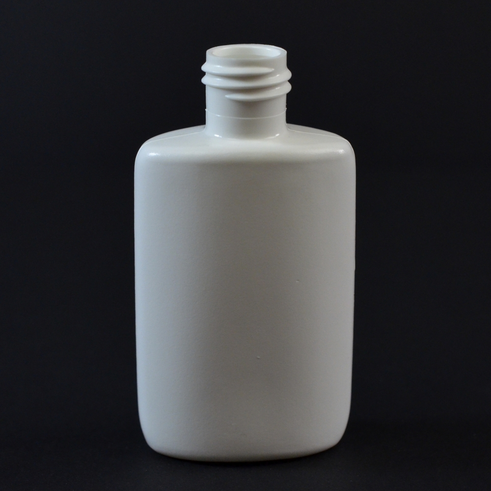 1.25 oz 15/415 Drug Oval White HDPE Bottle