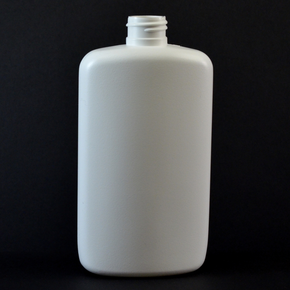 10 oz 24/410 Drug Oval White HDPE Bottle