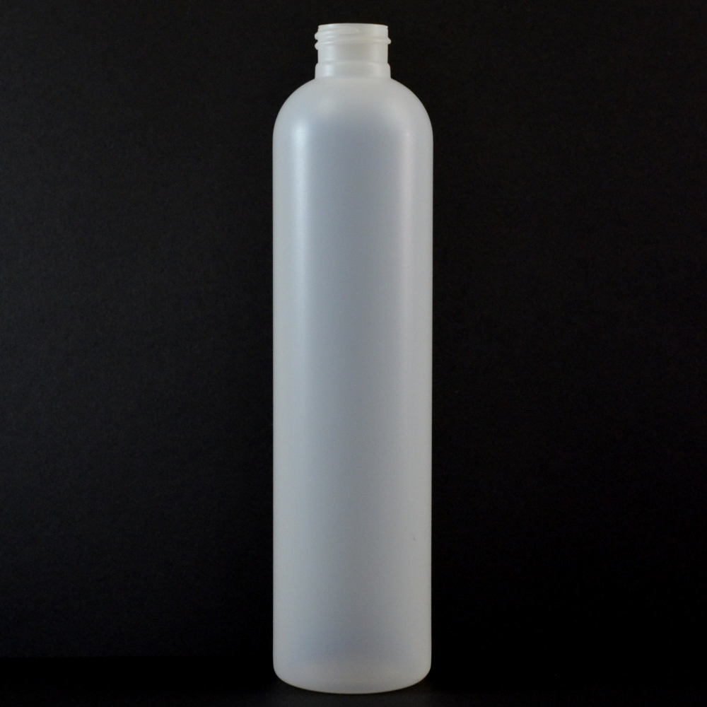 10 oz 24/410 Imperial Round Natural HDPE Bottle