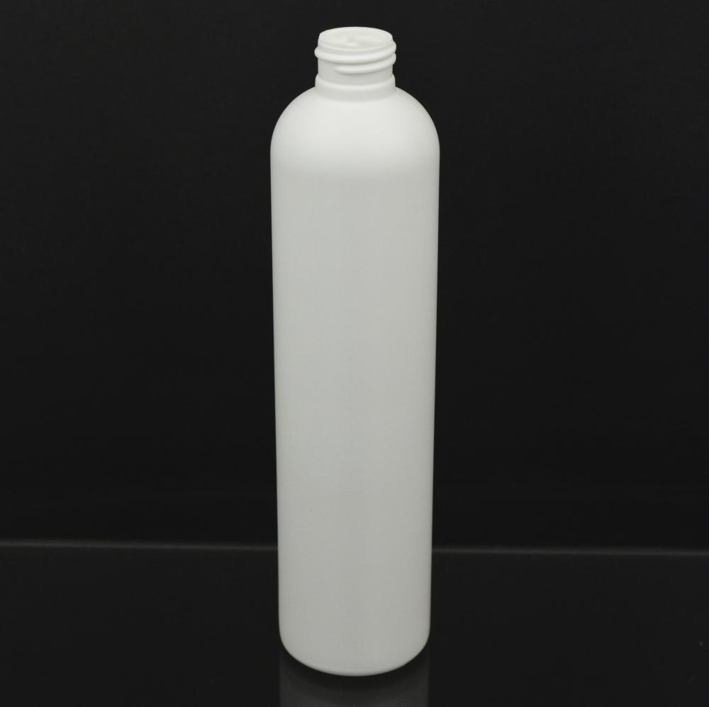 10 oz 24/410 Imperial Round White HDPE Bottle