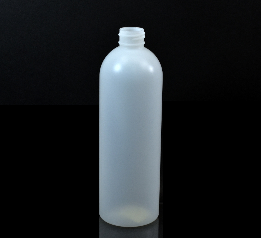 10 oz 24/410 Royalty Round Natural HDPE Bottle