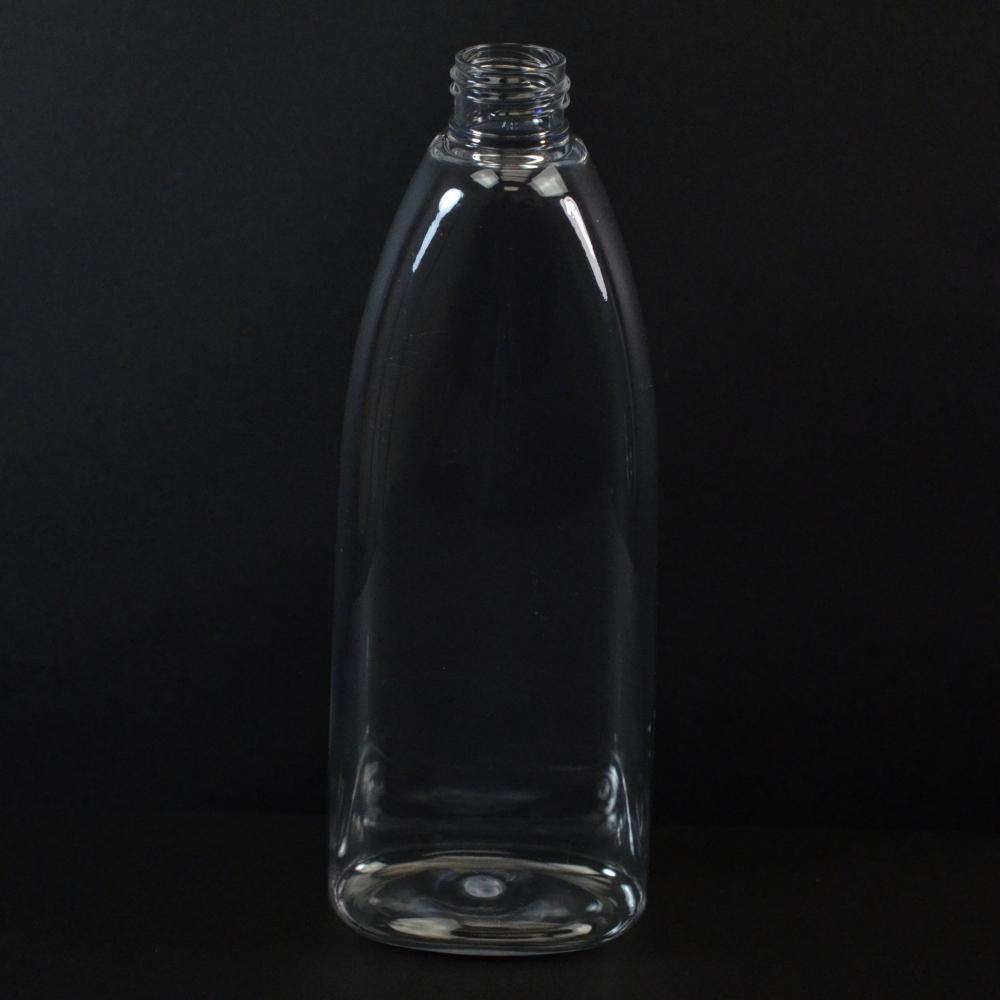 10 oz 24/410 Tear Oval Clear PET Bottle