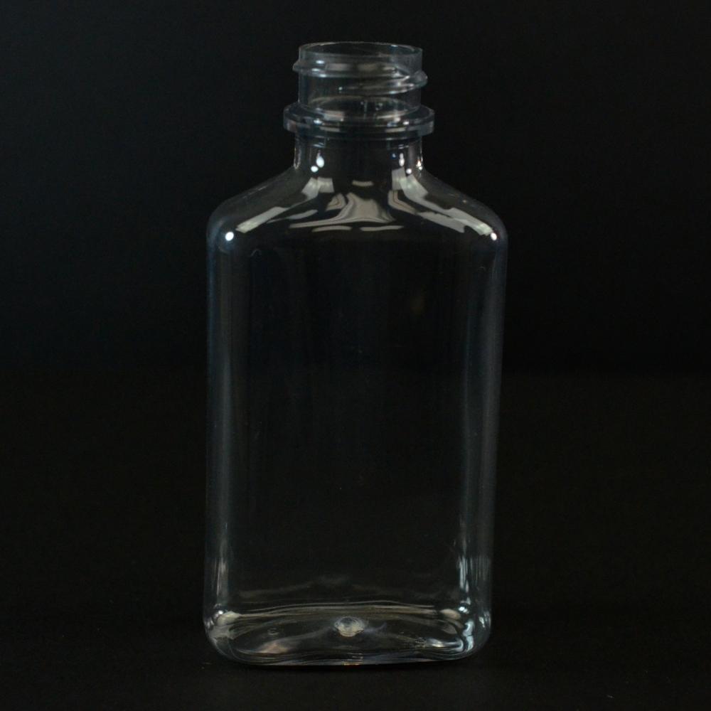 100 ml 24/400 Metric Oblong Clear PET Bottle