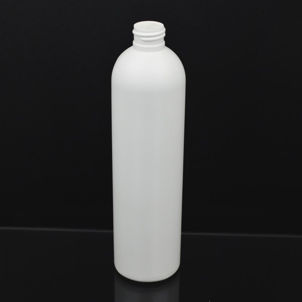 12 oz 24/410 Imperial Round White HDPE Bottle