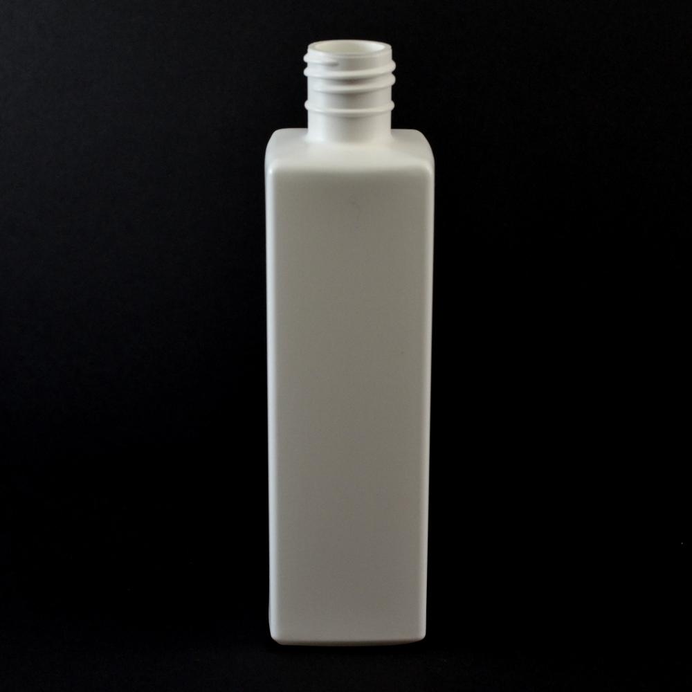 12 oz 28/415 White Beveled Square HDPE