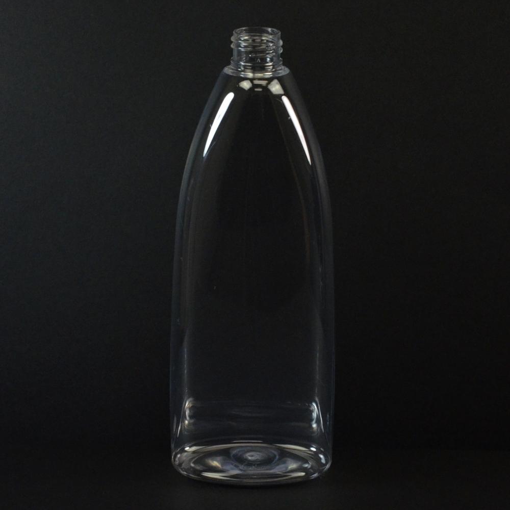 12 oz 24/410 Tear Oval Clear PET Bottle