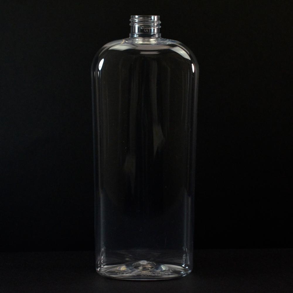 16 oz 24/410 Classic Oval Clear PET Bottle