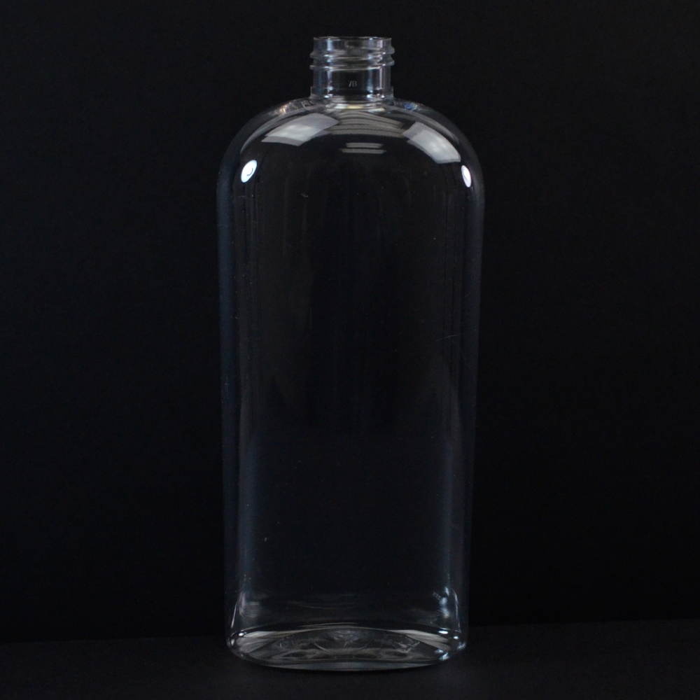 16 oz 24/410 Cosmoval Clear PET Bottle